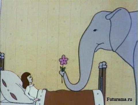 Раскраски девочка и слон
